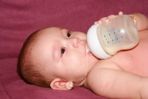 Paediatric reflux baby eating