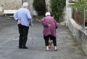 elderly man and women suffering frailty