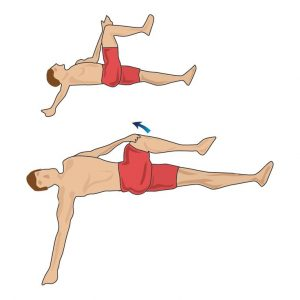 Hip closing gluteus medius stretch