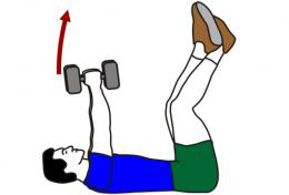 Bad abdominal exercises with kettle bell