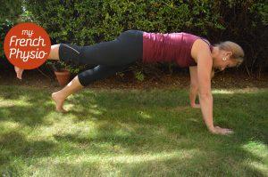 Plank with leg raised