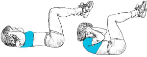 bad abdominal exercises crunch women