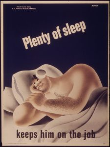 'Plenty_of_sleep_keeps_him_on_the_job'_-_NARA_-_514792