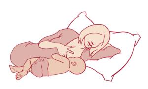 Quelles sont les positions d'allaitement à adopter pour éviter d'avoir mal au dos ? Position d'allaitement maman couchée sur un lit