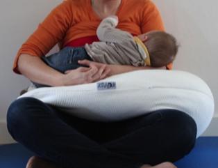 Quelles sont les positions d'allaitement à adopter pour éviter d'avoir mal au dos ? Position d'allaitement Ballon de Rugby